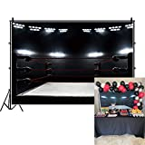 DASHAN 8x6.5ft Boxing Backdrop Boxing Ring Boys Men Boxing Birthday Athlete Competitor Contest Arena Infighter Boxer Photography Background Sports Boxing Theme Party Gym Portrait YouTube Photo Props