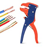 BOENFU Wire Stripper and Cutter, Self Adjusting Quick Strip Tool, Electronic and Automotive Repair Tool, Suitable for Silicone Copper Wire, Speaker Wire, 10 to 24 AWG Stranded Wire, 7 inches, Red