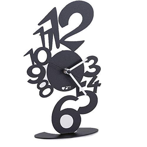 orologio da tavolo arti e mestieri OROLOGIO LUPIN TAVOLO NERO LINEA LOVE