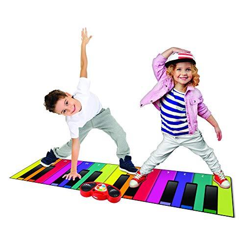 N-GEAR- Rainbow Colours - Alfombra Piano Gigante y Divertida para niños, NG-GPM-Pianomat