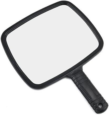 TRIXES Miroir de coiffeur manuel pour salons professionnels avec poignée