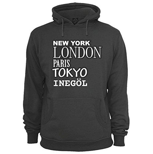 JOllify Unisex Pullover INEGÖL H3026 - Farbe: schwarz - Design 2: New York, London, Paris, Tokyo - Größe M
