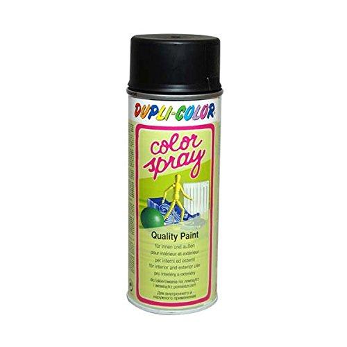 Duplicolor 740442 Color-Spray 400ml Noir Satin, Black Silk Matte, 6