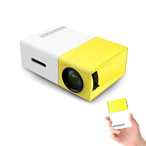 Mini Projector, Draagbare LED Projector Home Cinema Theater met PC Laptop USB/SD/AV/HDMI Input Pocket Projector voor Video Movie Game Home Entertainment Projetor