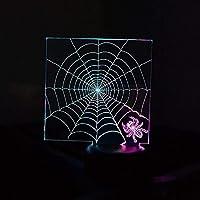 3DランプLEDナイトライトアニマルスパイダーウェブイリュージョンランプ16色変更装飾ランプ-3Dイリュージョンランプテーブルデコレーションのためのテーブルデコレーション完璧なプレゼント子供の装飾