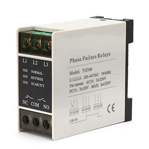 GAESHOW TG30S 220-440V AC Mini relé de Secuencia trifásico