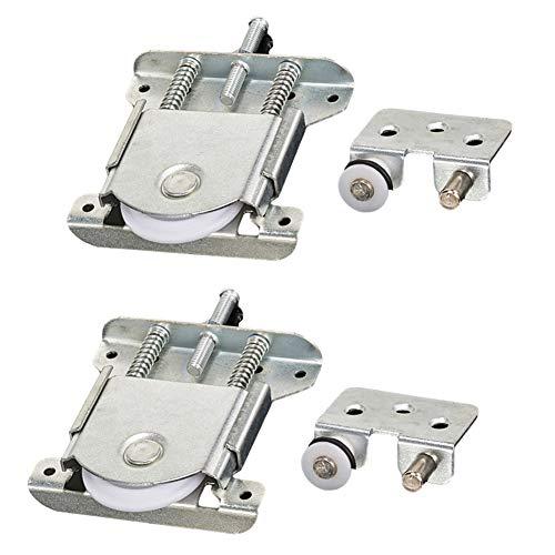 2 piezas de puerta de armario deslizante/ruedas/corredores/rodillos/guías con amortiguación amortiguación, capacidad de carga 20 kg