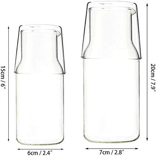 Glaswerk in 1 hittebestendige waterglas bekerset, een glazen theepot met een enkele kop, een kopje thee en koffieglazen drankjes
