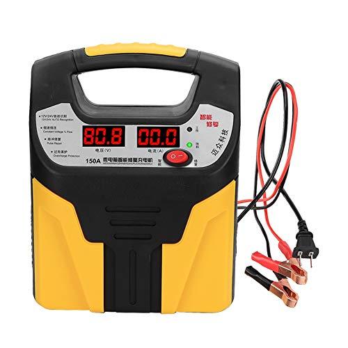 SEDOOM 12V / 24V 360W Universal Coche Motocicleta Pulso Inteligente Reparación De Pulsos LCD Cargador De Batería, Tapón De EE. UU.