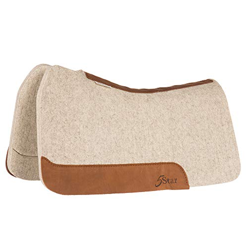 5 Star Equine Products Supplies Inc 5 Star Equine Flex Fit Barrel Racer Saddle Pad Natural 30X28