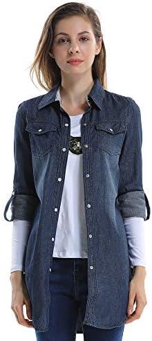 camisa vaquera mujer azul intenso