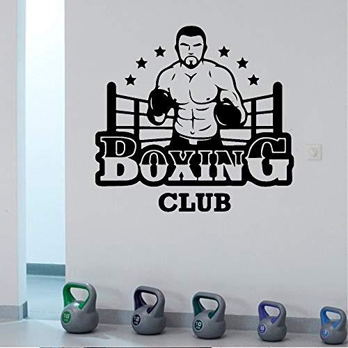 fancjj Etiqueta Moderna Boxing Club Wall Vinyl Wall Stickers Club Decor Girls Bedroom Sticker For Gym Company Decoración Mural Poster Decal