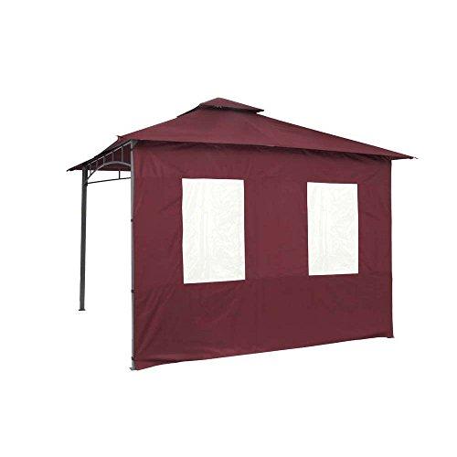 tepro Seitenteilset für LEHUA und WAYA Burgund Pavillon Garten terasse Camping 5513