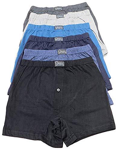 Michel Pierre, Herren Boxershorts, Baumwollmischgewebe, Herren Unterwäsche, Karo-Muster oder Unifarben, 6 x 12er-Pack Gr. M, 12 Stück