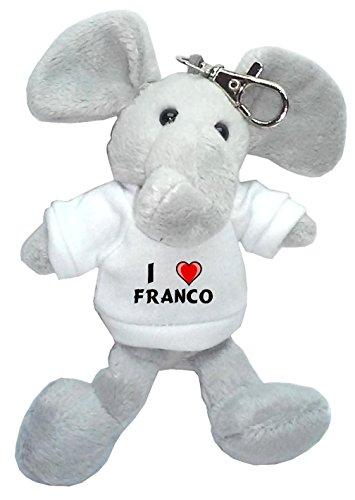 Elefante peluche llavero Amo Franco camiseta nombre