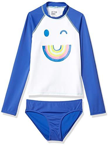 Amazon Brand - Spotted Zebra Kids Girls Tankini Rashguard Swimsuit Sets, 2-Piece Rainbows Set, X-Large