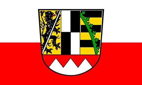 Flagge/Fahne OBERFRANKEN Staatsflagge/Landesflagge/Hissflagge mit Ösen 150x90 cm, gute Qualität
