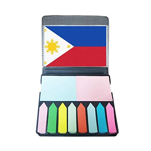 Filipijnen Nationale Vlag Azië Land Zelf Stick Note Kleur Pagina Marker Doos