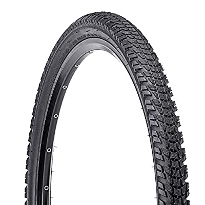 BUCKLOS 【US Stock 24/26/27.5 x 1.95/2.1 Mountain Bike Tires, MTB Bike Bead Wire Tire for Mountain, Bicycle Cross Country Tire 24/26/27.5 for Mountain, Non-Slip, Durable, Fit XC, AM, City Bike, 1PC