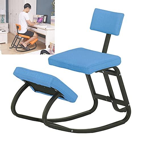 Silla de Rodillas Ergonómica con Respaldo Mejorar la Postura de Heces Ortopédicas para Arrodillarse Buena Postura para el Hogar Oficina Capacidad de 330 lbs
