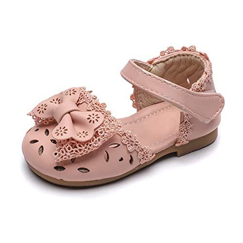 DEBAIJIA Bebé Niña Zapato de Princesa con Cinta Mágica para 1-3 años Niños Primeros Pasos Zapatos de Cuero con Lazo Moda Casual Antideslizante Suave Suela Patrón de Jirafa Corazón Cisne