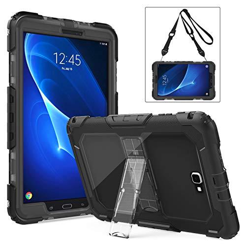 TiMOVO Samsung Galaxy Tab A 10.1 Funda - Shockproof Híbrido Resistente Smart Cover Case para Samsung Galaxy Tab A 10.1 Pulgada, Negro y Gris