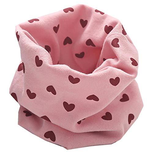 Lasisz herfst winter meisje 100% katoen sjaal kindersjaal slabbetje jongens meisjes O ring sjaal mooie kinderen kraag kinderen, roze hart