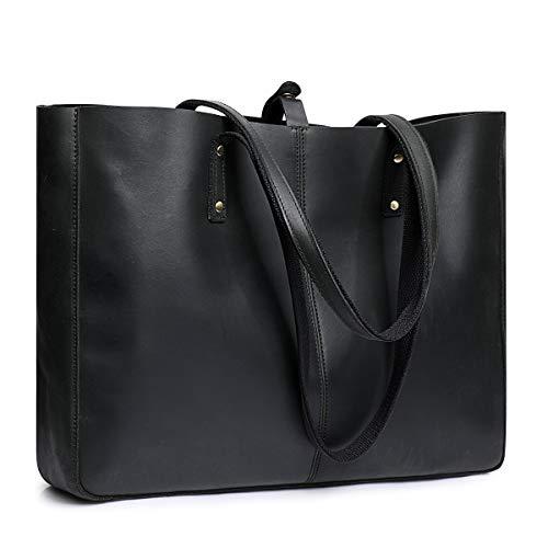 s zone shoulder bags S-ZONE Genuine Leather Shoulder Tote Bag for Women Large Handbag Work Purse