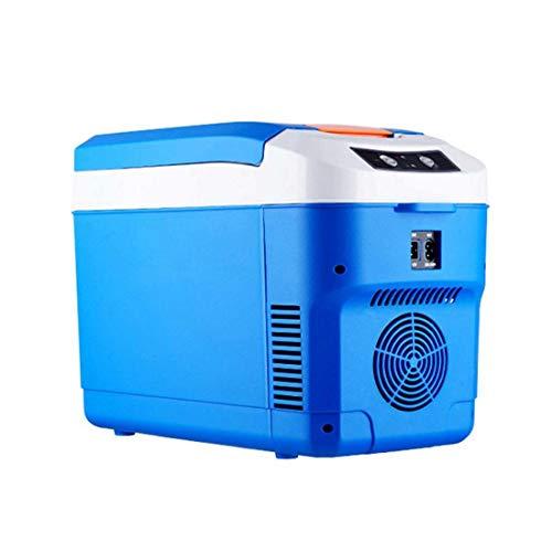 Mini Fridge 10 Litre,Portable Small Refrigerator for Car Home Dual-Use Refrigerator Outdoor Camping Refrigerator Portable Cooler Skin Care Fridge 12V 24V,Blue