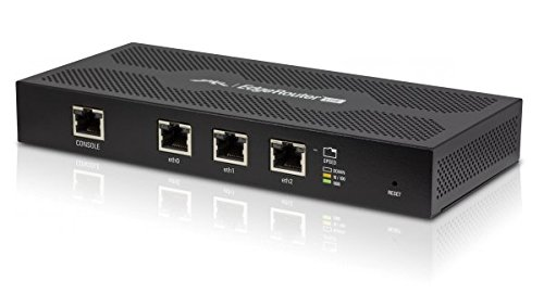 Ubiquiti Networks ERLite-3, Advanced 3-port EdgeRouter (EdgeMAX series), Sophisticated Routing Features, Advanced Security, Monitoring, and Management, High-Performance Gigabit Ports