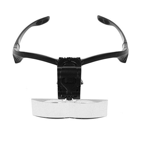 WOVELOT Gafas de lupa 2 LED 1 X 1.5 X 2 X...
