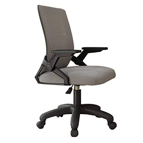 GLJMTY Silla de Conferencia sedentaria cómoda contemporánea Silla giratoria ergonómica para computadora de Oficina, reposabrazos giratorios de 90 ° / Diseño de Malla Transpirable