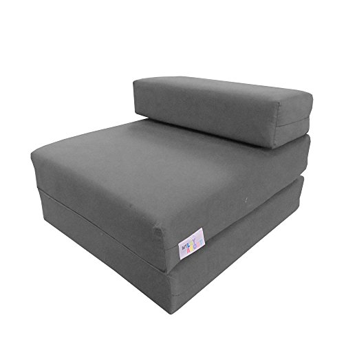 My Layabout Kids Single Z Bed Memory Foam Guest Bed/Fold Out Spare Bed/Chair/Futon/Mattress | Grey