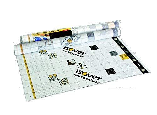 Isover Klimamembran Vario KM Duplex UV 40 x 1,5 m für 60 qm/Rolle diffusionsoffene Dampfbremse für innen und außen