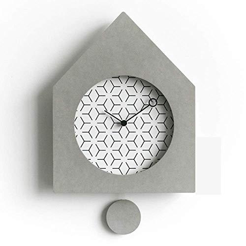 Per soggiorno / ufficio / casa / arredamento da cu 280 millimetri * 360 millimetri * 36m minimalista soggiorno Orologio da parete personalizzato swing Camera muto creativo Orologio da parete a pendolo