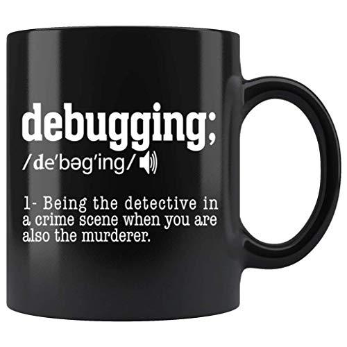 N\A Taza de programación de codificación Divertida de definición de depuración TL