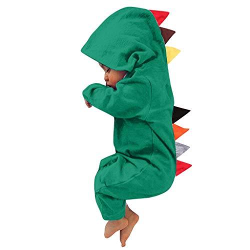 SANFASHION Barboteuse Capuche Ensemble de Pyjama Combinaisons Costumes Déguisement Grenouillères Dinosaure Romper Bébé Garçon Fille Naissance Manches Longues Unisexe Enfants Souple Cadeau Noël