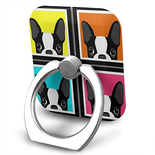 UMBNDFIR Phone Ring Cell Phone Ring Holder Colorful French Bulldog 360 Degree Rotation Phone Ring Holder Transparent Finger Ring Stand Kickstand Compatible Most of Smartphones