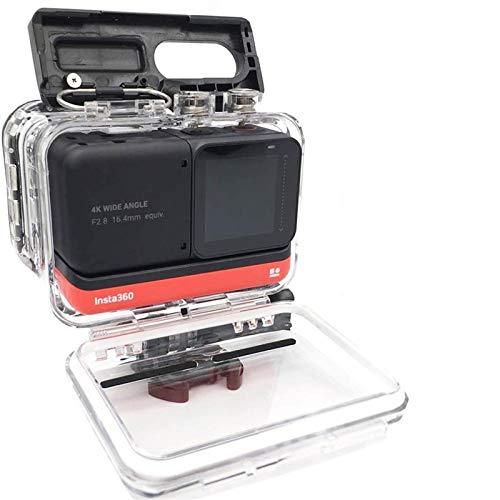 EPMEA0 Funda de alojamiento a Prueba de Agua 1pc para insta360 One R (4K edición) Protector de Estuche de Buceo bajo el Agua Cubierta con Accesorios de Soporte 82 * 80 * 54mm (Color : 360R FSK 4KG11)