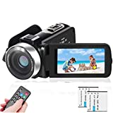 LAIDUOAO 2.7K Video Camera Camcorder Vlogging Camera WiFi IR Night Vision 1080P Camcorder with 16X Zoom, 2 Rechargeable Batteries, 30FPS 24MP 3.0 Inch Touch Screen Easy Operation with Remote