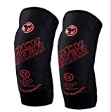 LXF JIAJU 4 Unids/Set Protectores De Rodilla De Motocicleta Moto Elbow Rodilla Pads Motocross Racing Protectores Protector Guardias Juego (Color : Red)