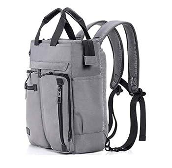 Wxnow Convertible Backpack Messenger Bag Shoulder Bag Laptop Case Handbag Business briefcase College School Bookbag for Men/Women Grey