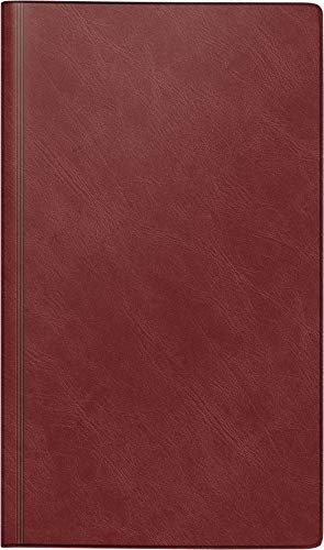 Preisvergleich Produktbild rido / idé 702501229 Buchkalender Reisemerker (1 Seite = 1 Tag,  113 x 195 mm,  Schaumfolien-Einband Catana,  Kalendarium 2020) weinrot