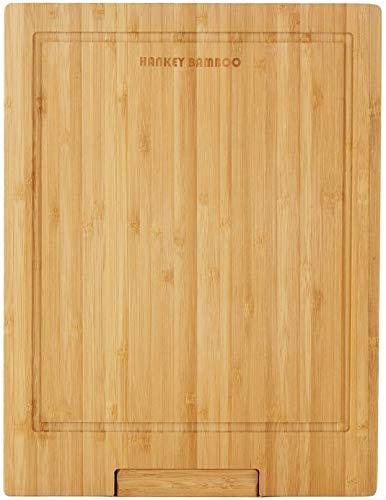 まな板天然竹抗菌溝付き立て34x26.5x2cmZS02HANKEY