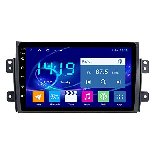 Navegación GPS para coche, DSP 4G + 64G Android 10 reproductor de DVD de coche para Suzuki SX4 2006-2013, reproductor de radio de navegación, manos libres Bluetooth, mapa sin conexión