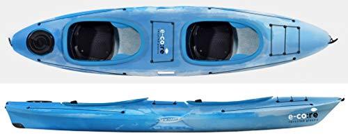 Tahe Marine Aqua Duo E-Core Zweierkajak Tandem Kajak Anfängerkajak Recycelte Materialien, Farbe:Blau