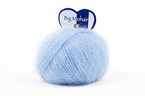 woolove Big Mohair - Filato in Mohair e Lana per Lavoro a Maglia.9 Azzurro