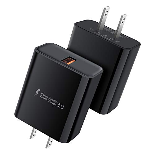 USB Charger Block,Wall Charger,2 Pack 18W QC3.0 Fast Charging Box Power Adapter Brick Box Cube Charger for iPhone 11 Pro SE,Samsung Galaxy F41,M51 M31,Note 20 S20 Ultra S20+ 5G,OnePlus Nord,Razr