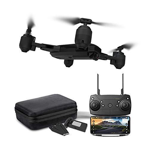 Drohne x Pro-5G Selfi WIFI FPV GPS mit 1080P HD Kamera faltbarer RC Quadcopter Hochhaltung, Kopflos Modus, Ideal für kind, Drohne mit Kamera für Live Videos, Weitwinkel (Schwarz)