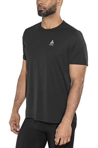 Odlo T- Shirt MC CARNADA Outdoor Homme, Black, FR : M (Taille Fabricant : M)